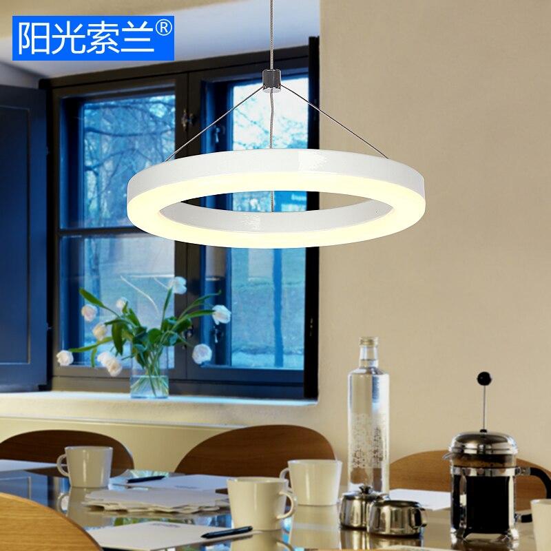 Moderne einfache led beleuchtung weiß ring kronleuchter für ...