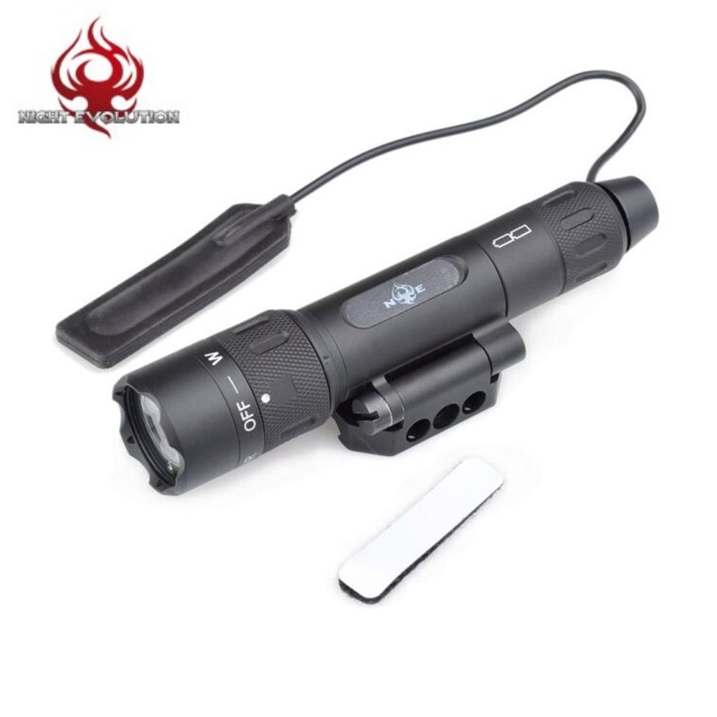 Night Evolution WMX200 Rotational Fold Mount Flashlight LED Tactical Weapon Light With IR Light Strobe Version Hunting NE08036 night evolution wmx200 tactical gun light led flashlight strobe remote tail switch ir light for picatinny rail spotlight hunting