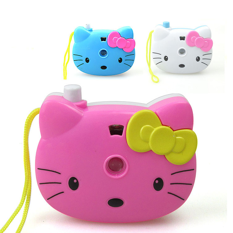 Children Cute Camera Toys Baby Cartoon Funny Flashing Projection Camera Photography Deco ...