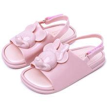 439e5ddeb19 Enfants Bébé Chaussures Enfants D été Sandales Mickey et Minnie Open-toe  Chaussures de Bande Dessinée Infantile Filles De Gelée .