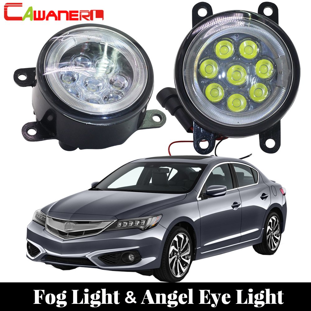 Cawanerl For 2013 2016 Acura ILX Car LED Bulb Fog Light