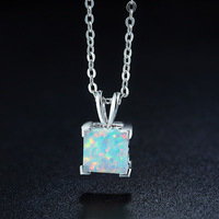 HOT Fashion Jewelry Best Quality 100 925 Silver Crystals From Swarovski Pendant Opal Necklaces Women Handmade