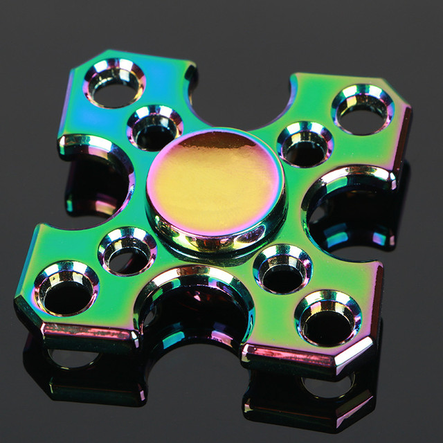 Block Colorful Tri-Spinner Fidget Toy EDC Hand Spinner Anti Stress Reliever And ADAD Fidget Spinner 606 steel Bearing