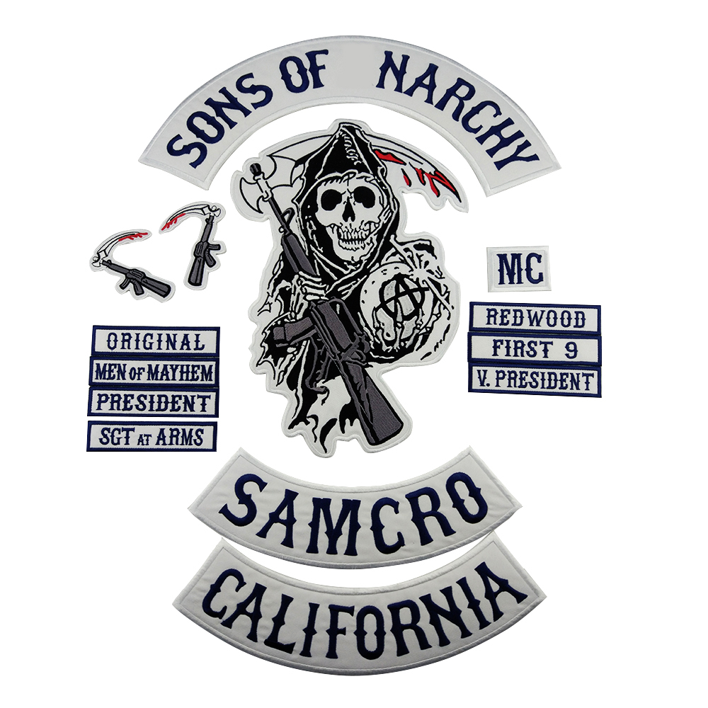 Original motorcycle biker embroidered vest patch iron on
