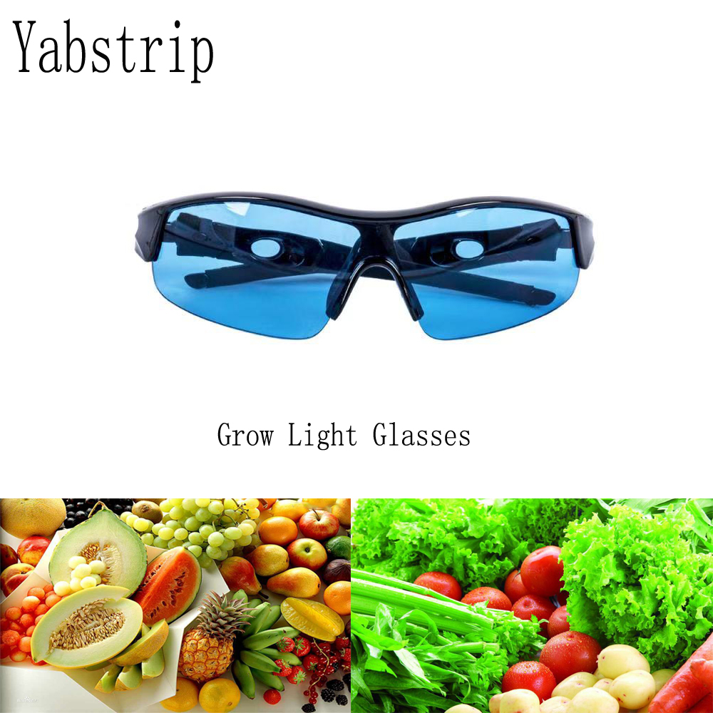 Professional LED Grow Light Glasses UV Polarizing Goggles For Grow Tent Greenhouse Hydroponics Plant Light Eye Protect Glasses