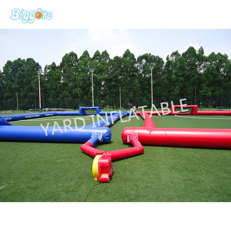 High Quality Inflatable Football Pitch Game Portable Inflatable Soccer Football Field For Children kids play game inflatable football pitch inflatable soccer field for sale