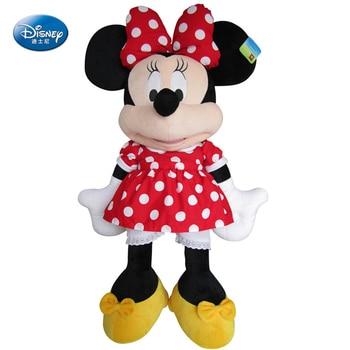 Disney Minnie Mouse Toy 47cm Minnie Plush Animal 2018 Girlfriend Child Toy Christmas Gift High Quality Bow Girl Birthday Gift