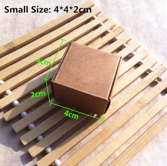 100Pcs/Lot-4*4*2cm Aircraft Cardboard Pack Boxes Smart Little Sized Craftwork Gift Fastener Ear Rings Kraft Paper Storage Box