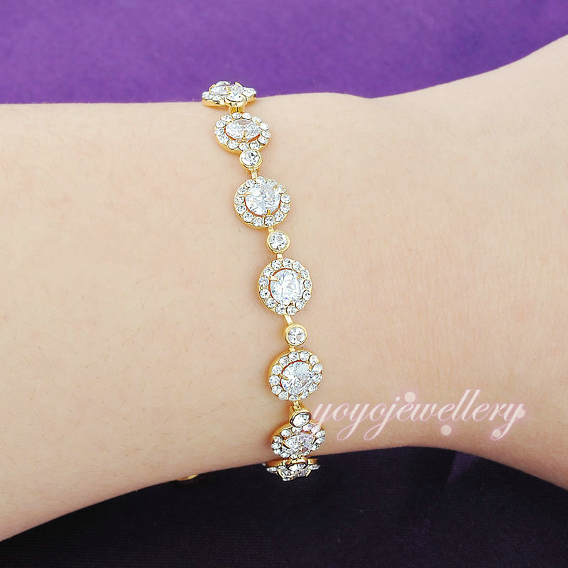Mytys 2017 New design High Quality White Crystal Chain Bracelet ...