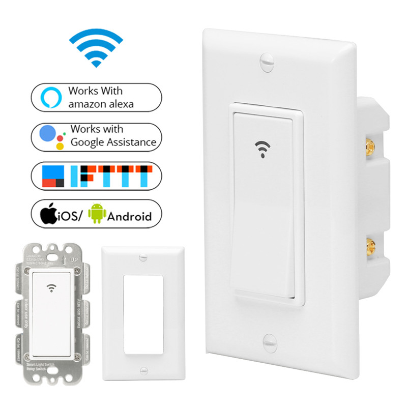 WiFi Smart Wall Light Switch Mobile APP Remote Control No