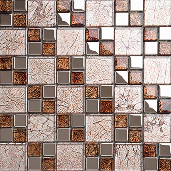 Making glass mosaics kitchen tiles design decorative wall for Designs of tiles for kitchen