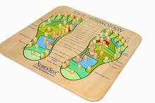 High Quality Point Foot Massage Device Type Reflexology Foot Massage Wooden Board Foot Reflex Zone Foot Plate