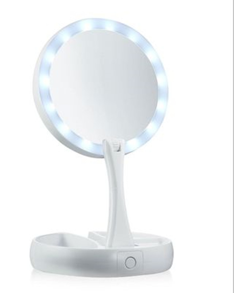 My Fold Away Adjustable Portable Mirror Led Makeup Mirror