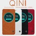Para asus zenfone max zc550kl caso original de nillkin qin series billetera cubierta funda de piel para asus zenfone max flip caso