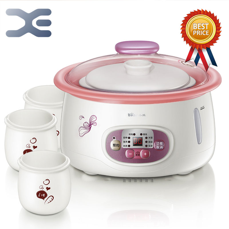 2.5L High Quality Electric Cookers Slow Cooker 220V Mini Casserole Crockpots Cooker easy slow cooker