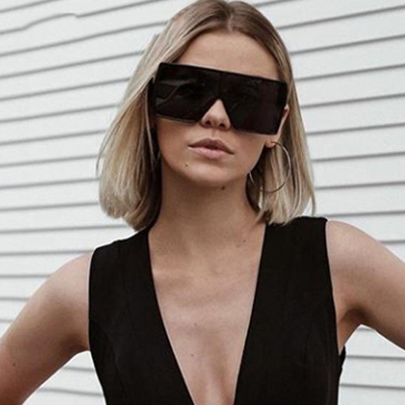 Vintage Square Oversized Sunglasses Women Fashion Sun Glasses Lady Brand Designer Retro Men Shades Gafas Oculos De Sol UV400