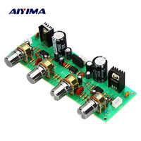 AIYIMA 2.0 NE4558 Audio Preamplifier Board Treble Bass Balance adjustable Audio Preamp Board With Tone Control Dual AC 12-15