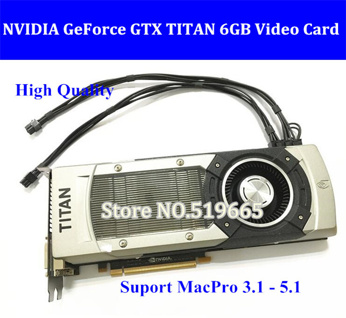 все цены на DHL/EMS FREE High Quality GTX TITAN 6GB GDDR5 Graphic Video Card for Apple Mac Pro Support 10.9,10.10,10.11