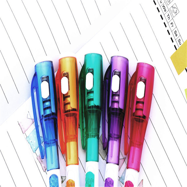 TOMTOSH/1Pieces/Cute creative stationery new led flashlight multi - purpose ball - point pen 2