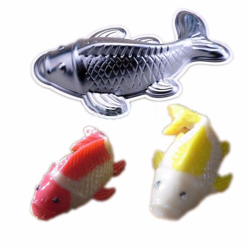 Newcomdigi 3D ปลารูปร่าง Bakeware อลูมิเนียม Fondant เค้กแม่พิมพ์เบเกอรี่เครื่องมือทำอาหาร [5]