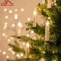 การควบคุมระยะไกลคริสต์มาสเทียนขี้ผึ้งไฟตกแต่งต้นคริสต์มาสนำส่วนประกอบสำหรับสีเปลี่ยน
