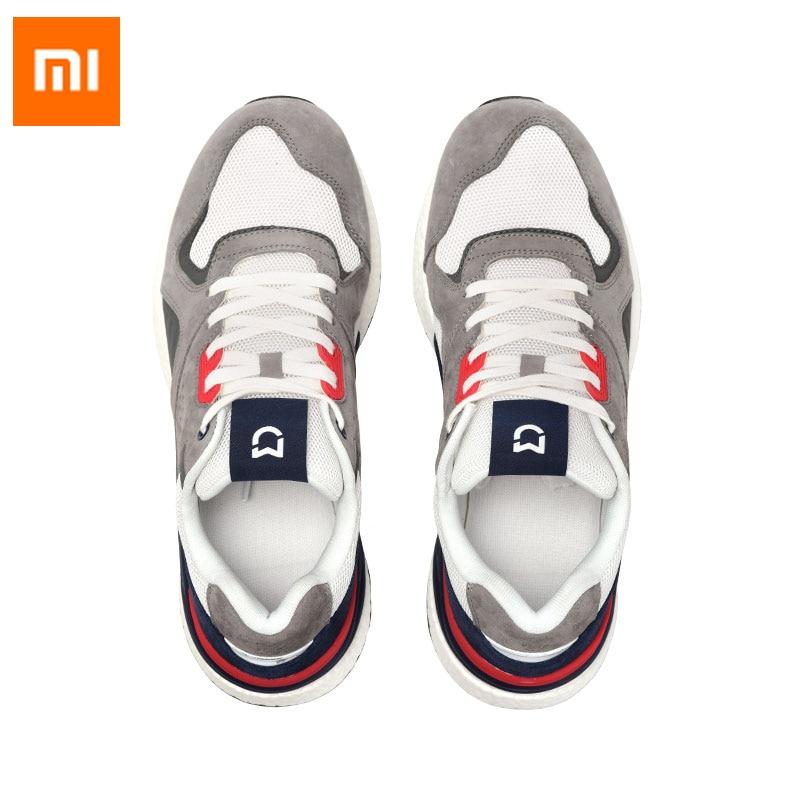 2019 nouveauté Xiaomi Mijia chaussures de Sport rétro en cours d'exécution en cuir véritable Durable respirant pour le Sport de plein air