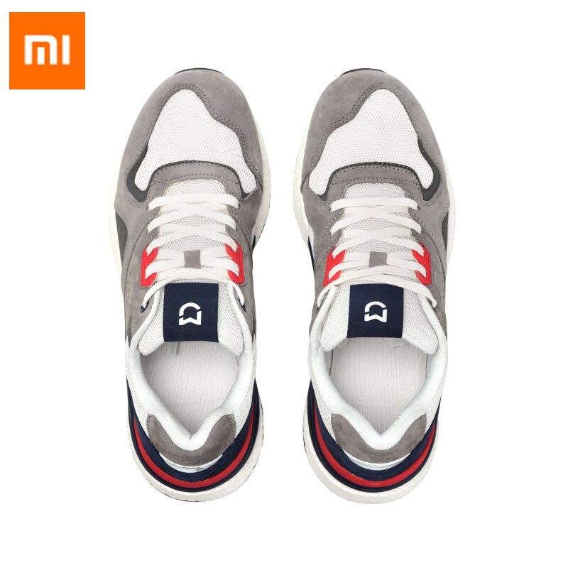 2020 새로운 샤오미 mijia 레트로 운동 화 신발 실행 스포츠 정품 가죽 내구성 야외 스포츠에 대 한 통기성