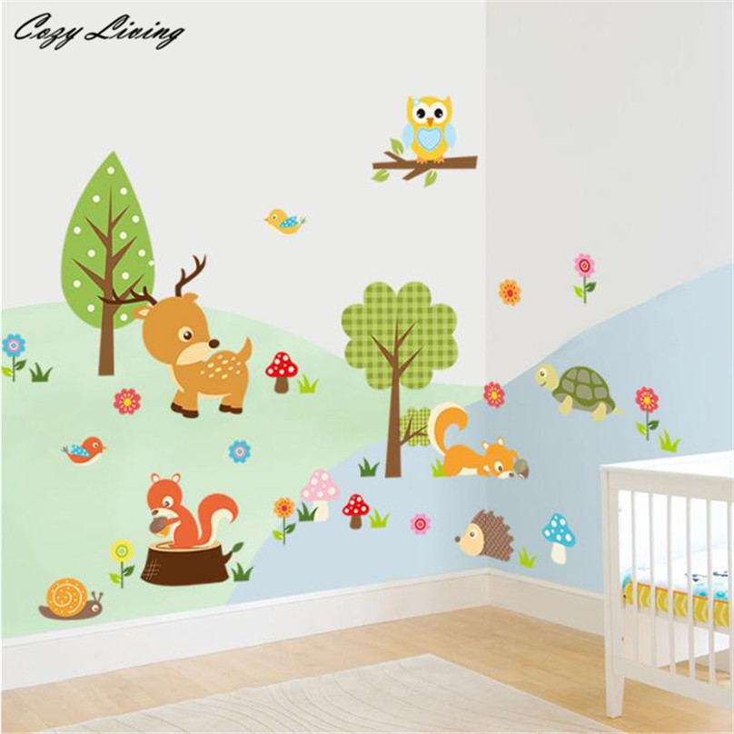Online Get Cheap Forest Themed Bedroom  Aliexpress com   Alibaba Group Wall Stickers Forest Animals Owl Children s Room Bedroom Background Wall  Sticker Theme Wallpaper Gifts for. Forest Themed Bedroom. Home Design Ideas