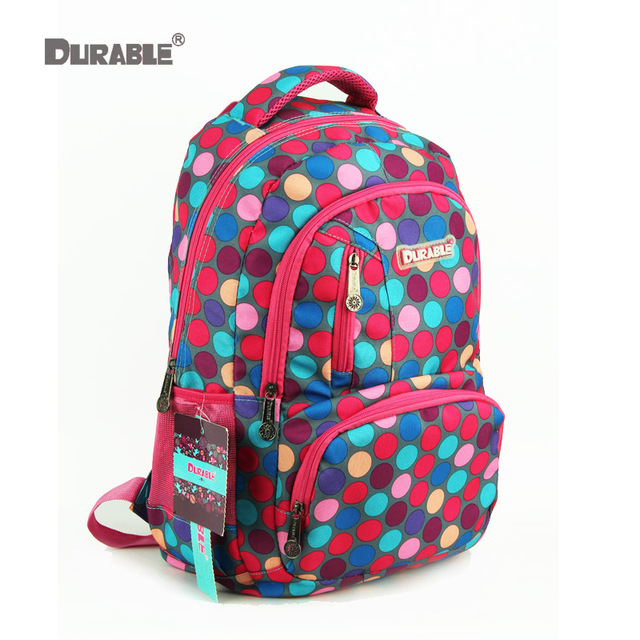 Durable Dot Rose Red Strong Backpack Multifunction Size Book Bags For S High Quality Factory