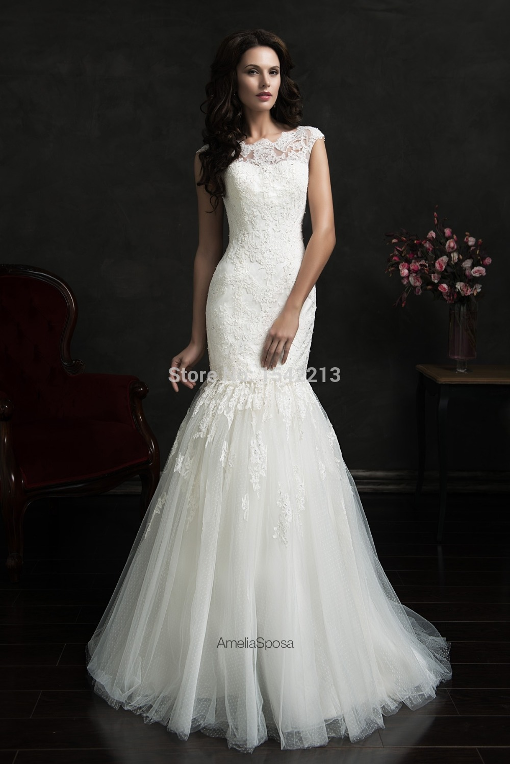 ab920d750683 Romantic Hot Sale Two In One Wedding Dresses Cap Sleeve Sexy Mermaid Bridal  Gowns High Low Short Front Long Back 2017-in Wedding Dresses from Weddings  ...