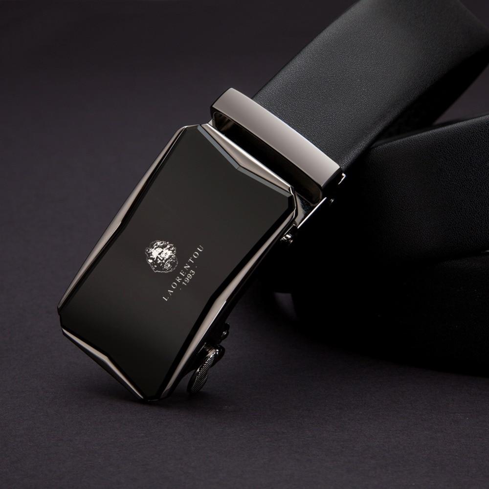 "LAORENTOU Brand Business Man 20"" to 44"" inch Adjustable Metal Automatic Buckle Belts Men's New Fashion Assembly Belt"