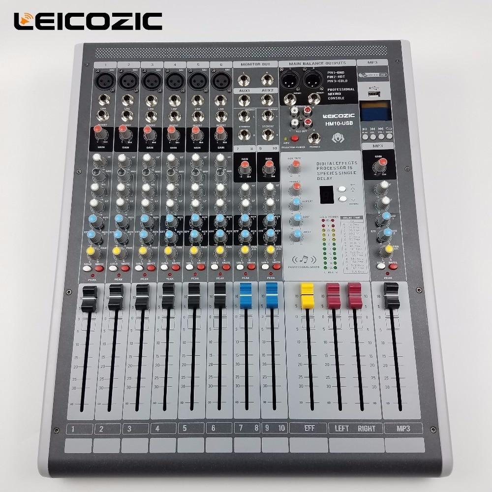 Tragbares Audio & Video Qualifiziert Leicozic Hm10-usb 6 Kanal Mixer Audio Mit Digitale Effekte Prozessor Professionelle Mischpult Für Bühne/kirche/dj Ausrüstung