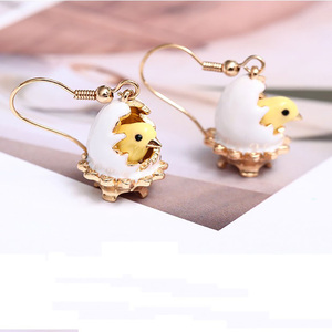 Image 3 - New Arrivals European Style Fashion Broken Shell Chick Enamel Gold Plated Luxury Earring For Women Party Jewelry