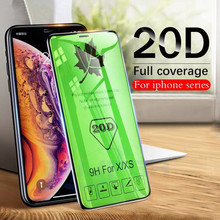 20D Protective Glass For iPhoneX XR XS Max Tempered Film Cold Carved Screen Protector iPhone 6 6S 7 8 Plus