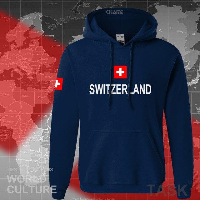 Switzerland hoodies men sweatshirt sweat new hip hop streetwear clothing jerseys tracksuit nation Swiss flag fleece Switzer CH 2
