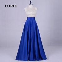 LORIE 이브닝 파티 드레스 졸업 고삐 페르시 A 라인 로얄 블루 댄스 파티 드레스 새틴 바닥 길이 특별한