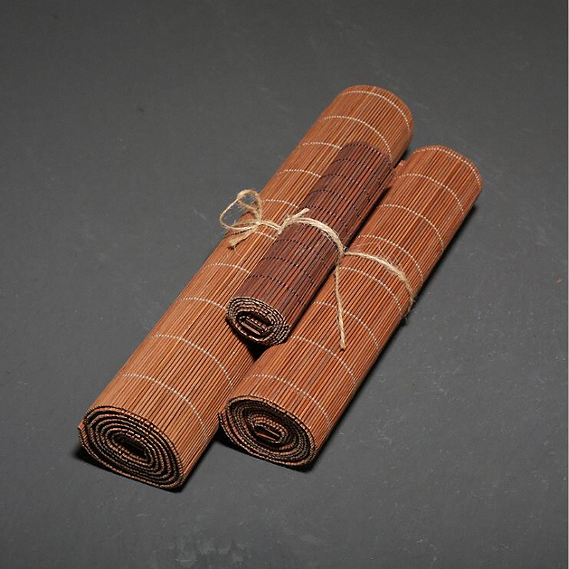 PINNY Natural Bamboo Tea Mats Chinese Kung Fu Accessories Ceremony Decorations Hand Made Placemats