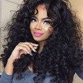 250% Плотность Glueless Кружева Передние Парики Человеческих Волос Свободные Вьющиеся бразильские Волосы Девственницы Кружева Перед Парики Черные Женщины Глубоко Вьющиеся парик