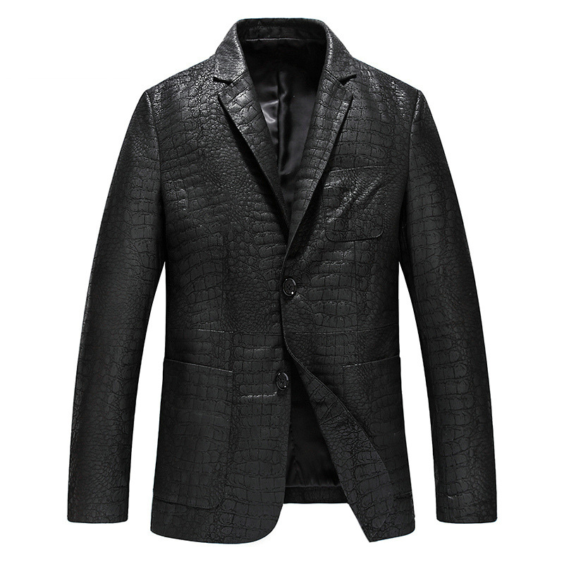 AYUNSUE Geniune Leather Jacket Men Sheepskin Leather Blazer Spring Autumn Jackets Plus Size 4 XL Jaqueta de couro MF040