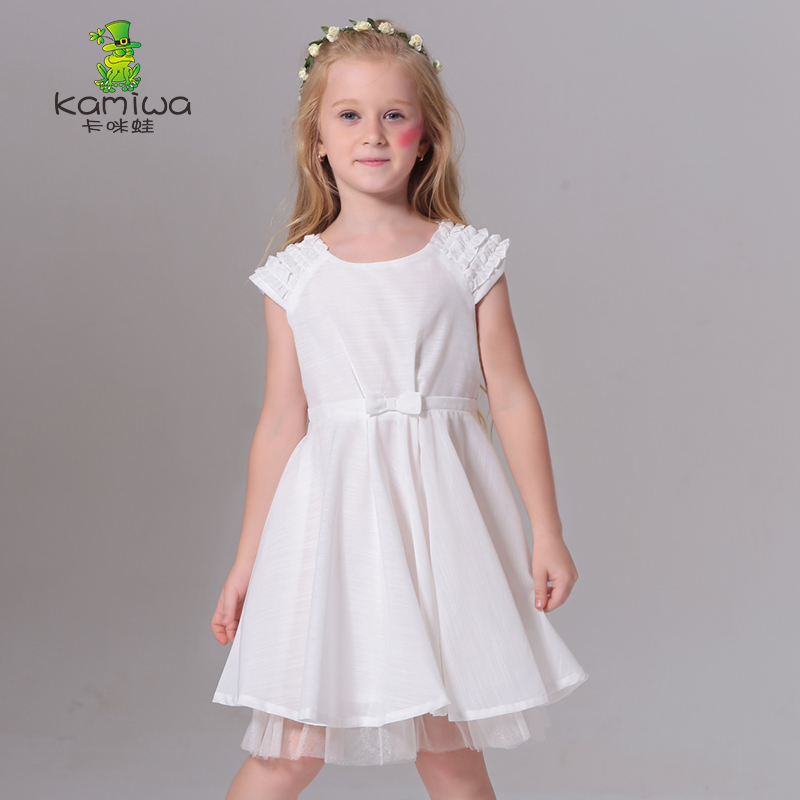 baby girl clothes Summer Short Sleeve Ruffles Solid