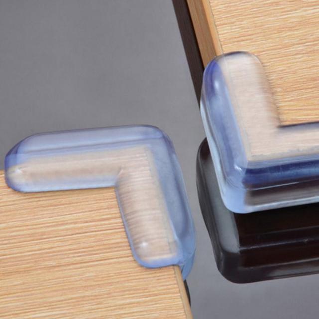 4 piezas Niño bebé de silicona de seguridad Protector de la esquina de la tabla de Protección de Niños anticolisión Edge esquinas guardias para los niños