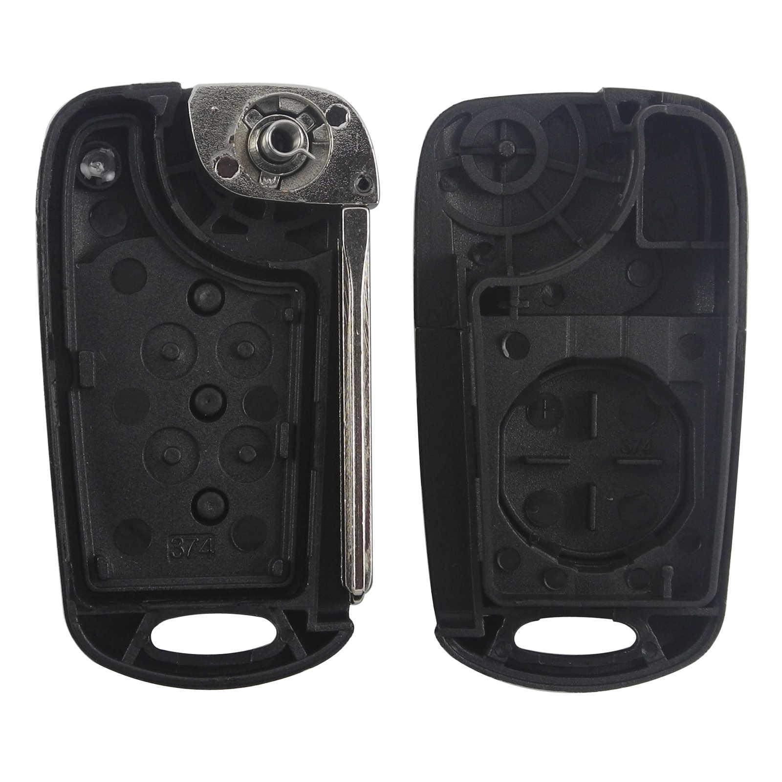 10 Pcs Jingyuqin Remote Mobil Kunci Shell Fob untuk Hyundai Solaris Bisa 2011 2012 2013 Original Case Kunci TOY40 HY20R Pisau 3BTN