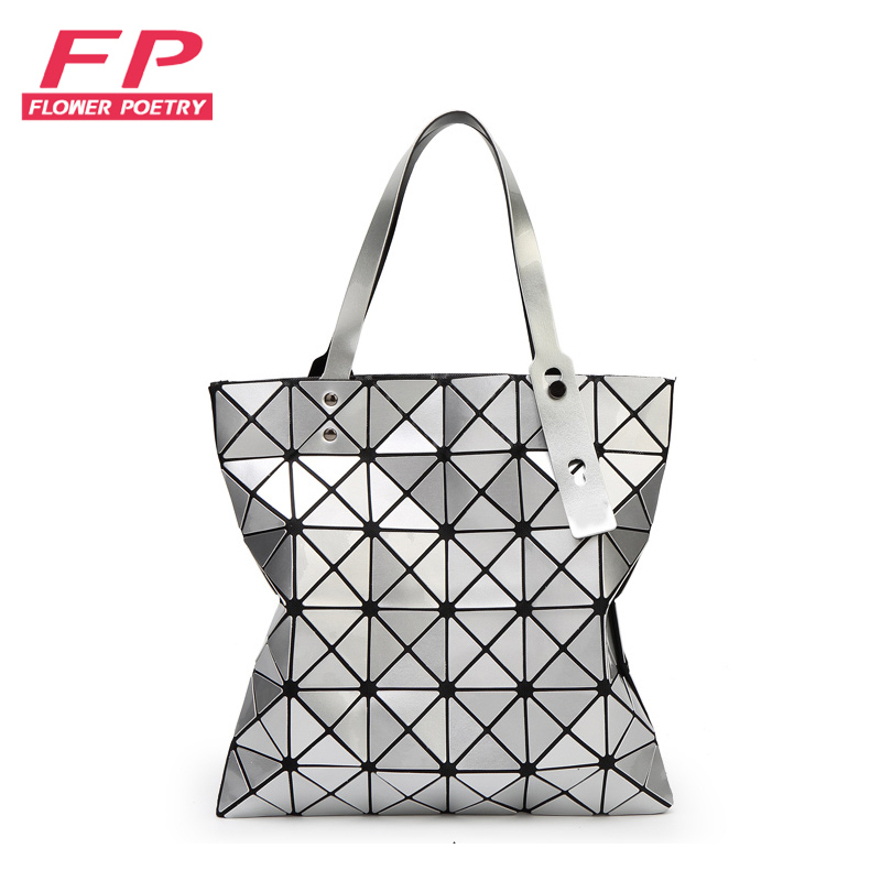 Flower poetry Female Folded Geometric Plaid Women Handbag Pearl BaoBao BAO Fashion Tote Bag Distortion Women