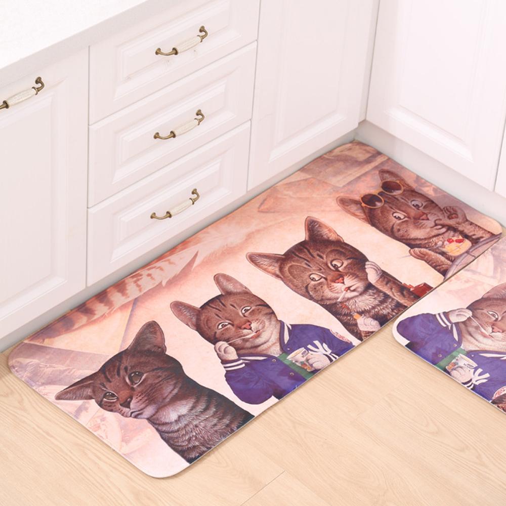 Cartoon katze muster teppich und teppiche für heim wohnzimmer küche bad teppich rutschfeste saugfähigen willkommen bodenmatte