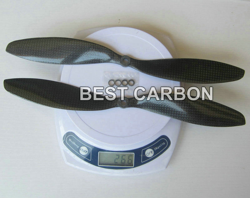 ᗗEnvío libre 2 pares alta calidad 11 de largo, 4.7 pitch, 3 K fibra ...
