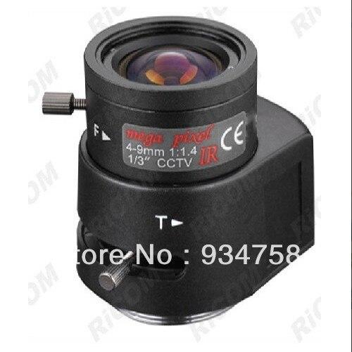 1/3 CS 1.3 million pixel 4-9mm Auto Iris IR Lens