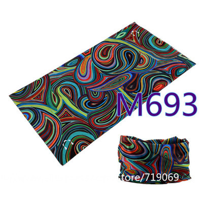 12pcs/lot 601-700 Wholesale Design Multi Bandana Motorcycle Biker Face Mask Neck Scarf Magic Seamless Bandanas Bicycle  Headband