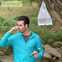 Miniwell acampamento ao ar livre sobrevivência filtro de água para esporte ao ar livre e atividades|Filtros de Água de acampamento| |  -