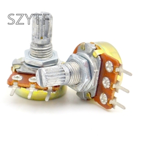 Image 2 - 100pcs / bag WH148 single joint amplifier potentiometer  10K 20k 50k 100k 500k..... L: 15MM