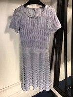 2017 Сексуальная был тонкий Вязание Платье Элегантные старинные платья для женщин большие размеры рюшами Мода хит цвет талии Vestido платье женс